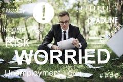 Exame preocupado Job Concept do problema do esforço fotografia de stock royalty free