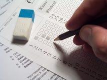 Examen Image stock
