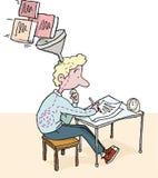 examen stock illustrationer