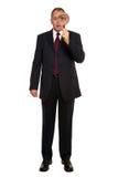 Examen cercano del hombre de negocios. fotografía de archivo
