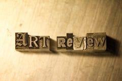 Examen d'art - signe de lettrage d'impression typographique en métal Image libre de droits