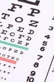 Examen d'oeil Images libres de droits