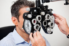 Examen d'oeil photo libre de droits