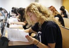 Examen d'université photographie stock libre de droits