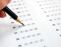 Examen de choix multiple Photo libre de droits