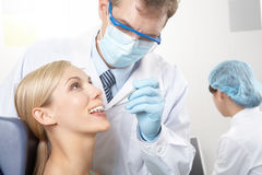 Examen de dents photo stock
