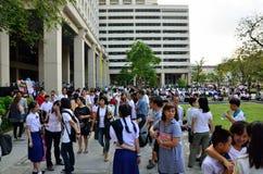 examen de entrada de 4.200 estudiantes que espera para imagen de archivo