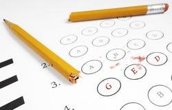 Examen de GED Foto de archivo libre de regalías