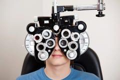 Examen de la optometría Foto de archivo
