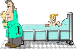 Examen de la próstata stock de ilustración