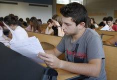 Examen de la universidad Fotos de archivo