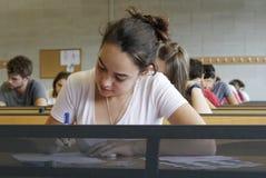 Examen de la universidad Fotografía de archivo libre de regalías