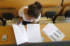 Examen de la universidad Imagen de archivo