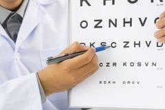 Examen de ojo Imagen de archivo libre de regalías