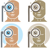 Examen de ojo libre illustration