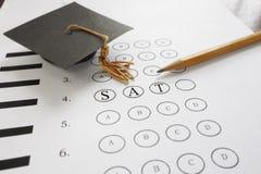 Examen de SAT photos libres de droits