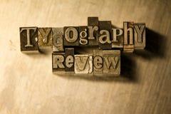 Examen de typographie - signe de lettrage d'impression typographique en métal Photos libres de droits