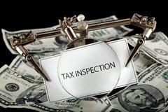 Examen del impuesto Foto de archivo libre de regalías
