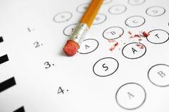Examen del SAT Foto de archivo libre de regalías