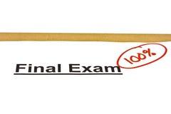 Examen final marcado con 100% Imágenes de archivo libres de regalías