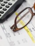 Examen financier Images stock