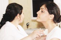 Examen médical ultrasonique Photos stock