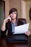 Examen minutieux d'entrevue d'emploi Photos libres de droits