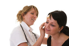 Examening der Patient Stockfotos