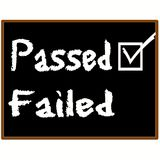 examenkvaliteten passerade Arkivfoton