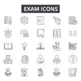 Examenlinje symboler för rengöringsduk och mobil design Redigerbart slaglängdtecken Illustrationer för examenöversiktsbegrepp royaltyfri illustrationer