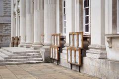 Examenresultat på senathuset, Cambridge universitet Arkivfoto