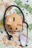 Examin Euros With Stethoscope Stock Photo