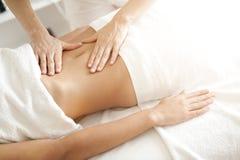 Examinación abdominal Foto de archivo libre de regalías