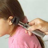 Examinación de oído Fotografía de archivo