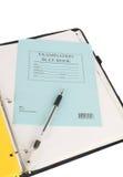 Examination blue book. Stock Photo