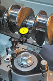 Examination of a crankshaft Stock Images