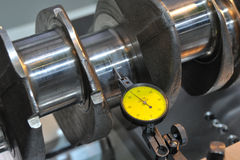 Examination of a crankshaft Stock Photography