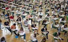 Examination day Stock Image