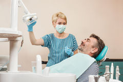 Examination by a dentist Stock Photography