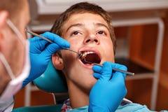 Examination by dentist Stock Photo
