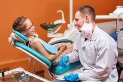 Examination by dentist Royalty Free Stock Image