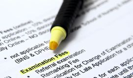 Examination fees Royalty Free Stock Image