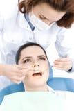 Examination of the oral cavity Stock Photo