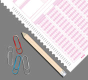 Examination paper Stock Photos