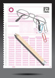 Examination paper. Pen and Paper test on black background. examination paper Royalty Free Stock Images