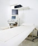 Examination Room With Bed And Ultrasound Machine Royalty Free Stock Photos