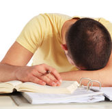 Examination stress Stock Image