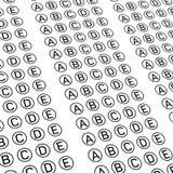 Examination test sheet. Education concept. Examination test sheet background. Education concept vector illustration Royalty Free Stock Photo