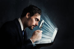 Examine a computer stock images