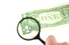 Examine the dollar royalty free stock images